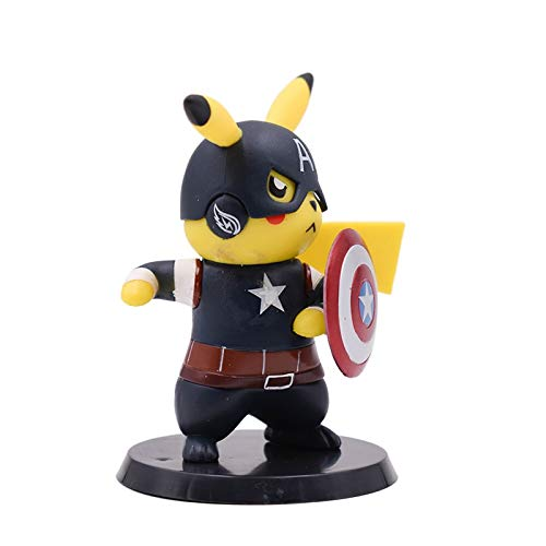 - VIETFR Movie Detective Pikachu Cosplay Deadpool Batman Darth Vader Naruto Kakashi PVC Action Figure Doll Collection Model Toy -Complete Series Merchandise