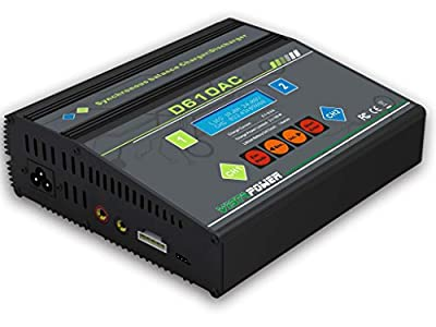 D610AC AC/DC Two-Channel Dual 2 100Watt Ports (8Amps each, 200Watts Total): LiPo, LiIon, LiFe, NiCd, NiMh, Pb Balancing Professional Battery Multicharger Discharger Maintainer VistaPower