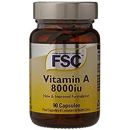 FSC Vitamin A 8000Iu 90 Softgel Capsules (Pack of 3)