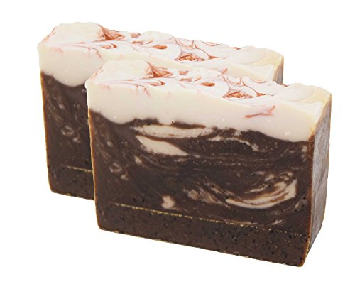 Exfoliating Cocoa Rich Coffee Handmade Artisan Luxury Gift Soap Bar 2 Pack by Score (Cocoa Brandy)