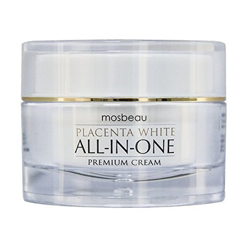 - Mosbeau Skin Whitening Placenta White Premium All-in-one Facial Cream New 2015 Includes Patented Japanese Placental Protein. Serves As Whitening Cream, Anti-aging Essence, Moisturizer, Exfoliant, Uv Protection, and Make-up Base.