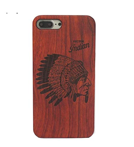 iPhone Xs Max Otter Case Phone Case iPhone Xs Max Cool Boy Men Wood Solid Wood Radium Sculpture Indian Waterproof Dirtproof 2018 iPhone Xs Max Case iPhone Xs Max 6.5 Case (Indian, iPhone 6/6S)