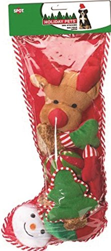 688616 holiday dog toy stocking 8 piecex large