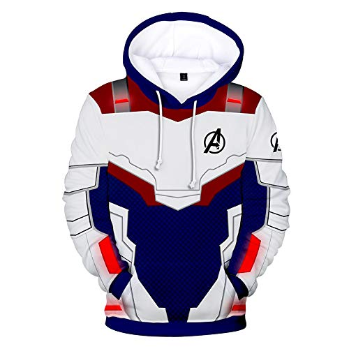 Unisex Kids 3D Printed Hoodies End Game Superhero Hoodies Advanced Tech Sweatshirt Pullover Super Hero Uniform 4T-14TBlue Finger,9-10T/XS