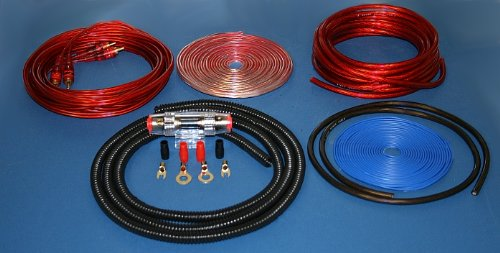amazon com imc audio 8 gauge power wire amp kit 500 watt red cell rh amazon com 8 gauge amp wiring kit 8 gauge amp wiring kit walmart
