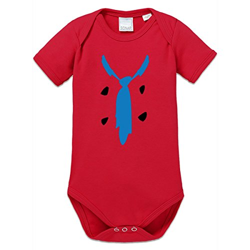[Shirtcity Caveman Costume Baby One Piece 80 Red] (Cave Baby Girl Costumes)
