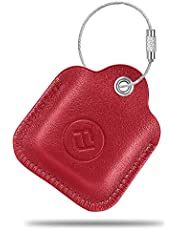 Fintie Genuine Leather Case for Tile Mate (2020 & 2018 & 2016) / Tile Pro (2020 & 2018) / Tile Sport/Tile Style Key Finder Phone Finder, Anti-Scratch Protective Skin Cover with Keychain