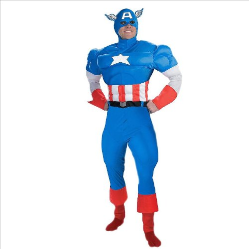 Disguise Marvel's Captain America Adult Deluxe Muscle Chest Costume (Medium)