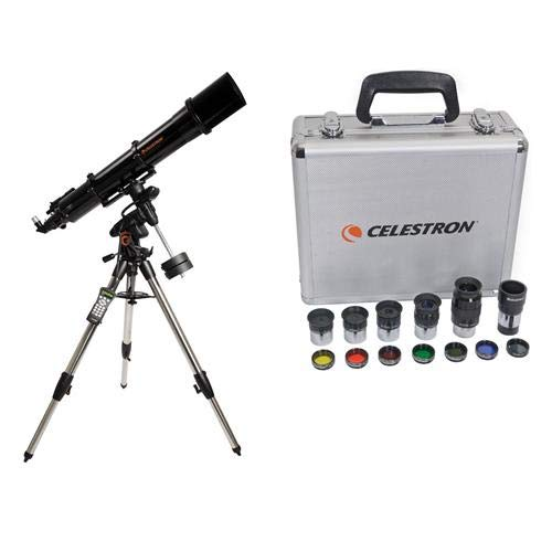 Celestron Advanced VX 6'' Refractor Telescope - with Deluxe Accessory Kit (5 Plossl Eyepieces, 1.25'' Barlow Lens, 1.25'' Filter Set, Accessory Carry Case by Celestron