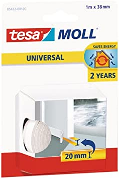 Tesa Tape 5190006 Umbral, color blanco, 1 m 38 mm