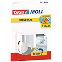Tesamoll universele deurvloerafdichting zacht schuim wit 1 m/38 mm/2 mm/stopt tocht