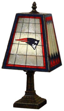 NFL New England Patriots 14 Inch Art Glass Lamp