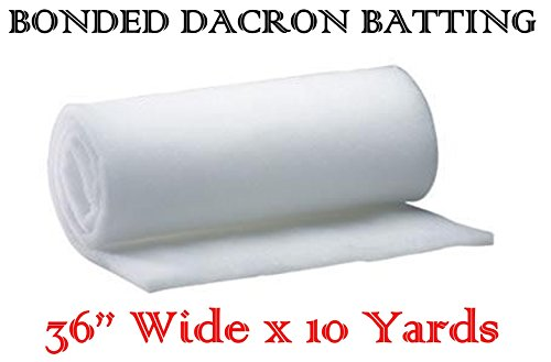 (AK-Trading 36 Inch Wide Bonded Dacron Upholstery Grade Polyester Batting (10 Yards) )