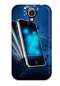 New Galaxy S4 Case Cover Casing(iphone In Blue)