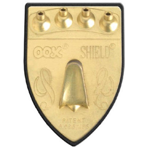 OOK 55007 Shield Picture Hanger Supports Up to 100 Pounds, Brass