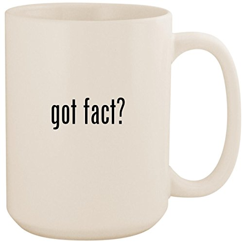 got fact? - White 15oz Ceramic Coffee Mug Cup (Interesting Facts About Jackie Robinson For Kids)