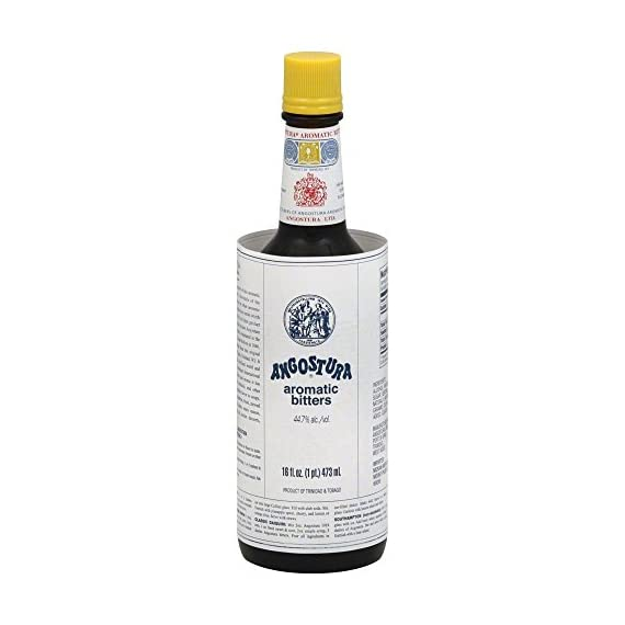 Angostura Aromatic Bitters 16.0 OZ(Pack of 4) 1 Low Calorie Low Fat Low Sodium