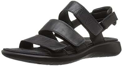 ECCO Women's Soft 5 Sandal Fashion Sandals, Black, 35 EU