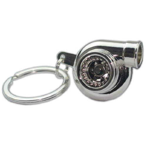 Chrome Turbo Bearing Keychain Metal Whistle Key Ring/Chain Boosted Spooling P4 for Eagle Talon - Eagle Talon Turbo