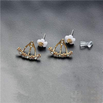 Amazoncom Lannmart Box Crystal Stud Earrings Boucle D