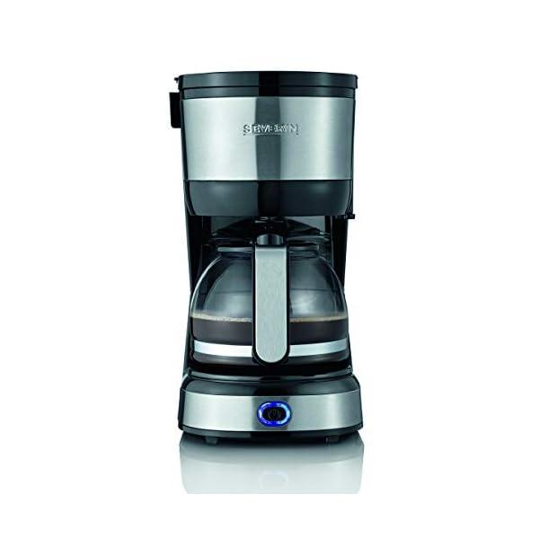 Severin KA 4808 Macchina per il Caffè, Fino a 4 Tazze, Filtro Permanente Lavabile, Filtro Oscillante, Piastra… 2