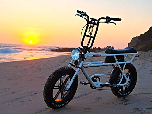 Addmotor MOTAN Electric Bikes for Adults,750W Motor 20 Inch Fat Tires Battery Powered Assit Bicycles, 48V 14.5Ah Lithium Battery M-70 Platinum Cruiser Retro Ebike