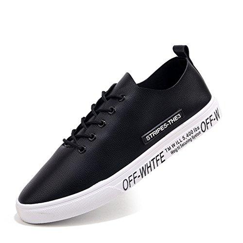 Blanc Mens Chaussures Noir de Faux Sneaker Course Décontracté Plat PU MMM Chaussures Chaussures Lace Cuir Black Up Rouge Baskets Z5TnwddqE