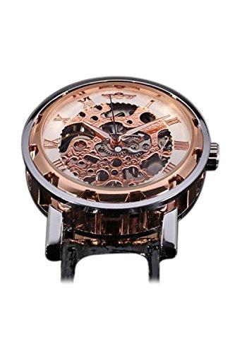Reloj de hombre - winner Clasico Reloj de pulsera Mecanico de hombre Oro de rosa: Amazon.es: Relojes