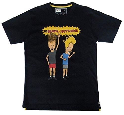 "Beavis and Butthead, Herren T-Shirt, ""Angry"", Schwarz (XL, Schwarz)"