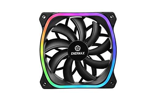 Enermax Squa RGB PWM 120mm Case Fan, Addressable RGB Sync via Motherboard, Single Pack, UCSQARGB12P-SG