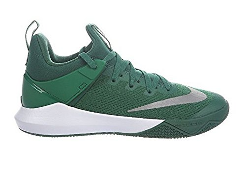 Nike Mens Zoom Shift Klyfta Grön / Vit Nylonbasketskor 9.5