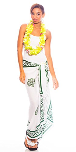 1 Celtic Blanc Sarong Shamrock World Swimsuit Womens Sarongs Trinity rSwXfrAqR4