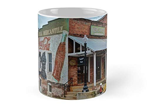 General Mercanite'S Cocacola Wall Mural Ad Mug - 11oz Mug - Made from Ceramic - Best gift for family friends