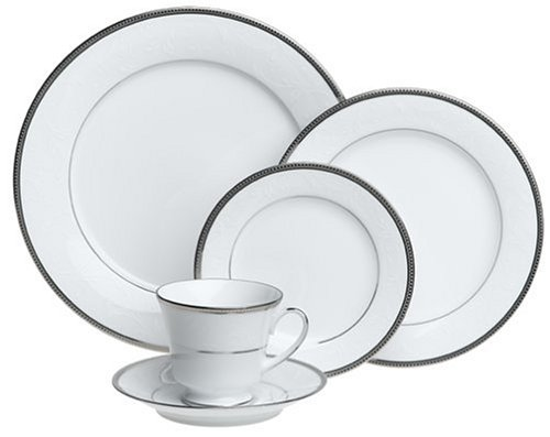 Noritake Regina Platinum 20-Piece Dinnerware Place Setting, Service for ()