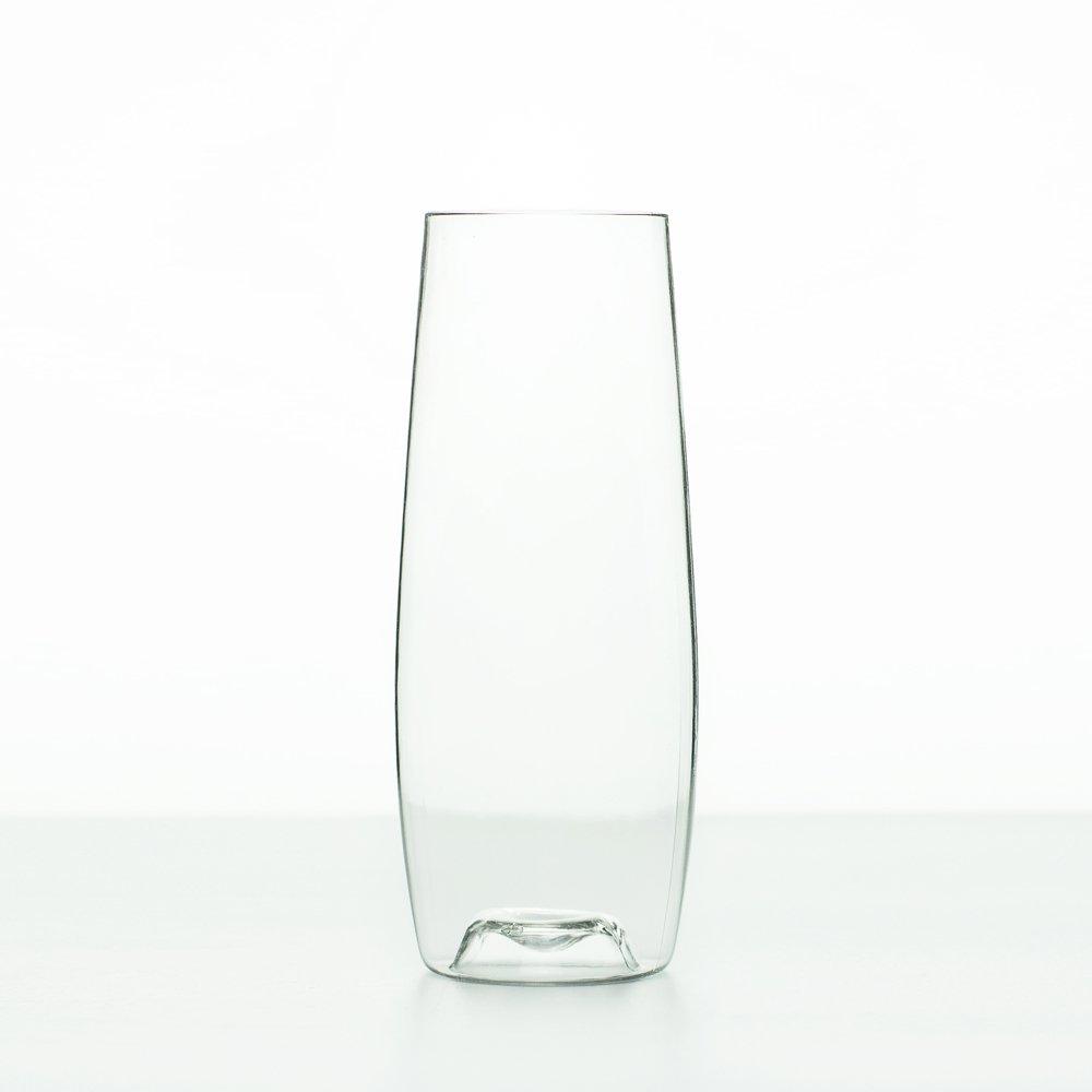 Spakon 8oz Flute - Premium Tritan Plastic Champagne Flutes, Wine/Toasting Glasses - Dishwasher Safe! - Set of 4 - Unbreakable, Recyclable, Shatterproof