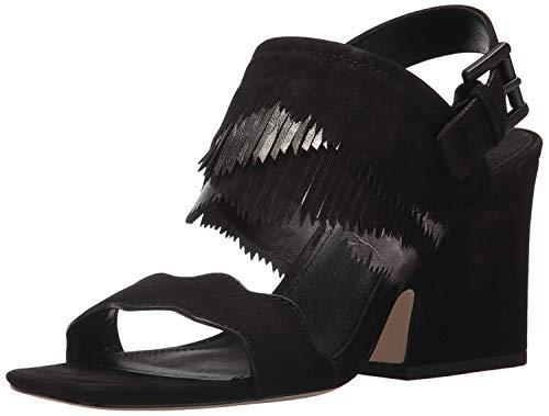 Donald J Pliner Women's Mylo Heeled Sandal, Black, 7.5 Medium US