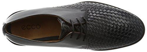 ECCO Leeds, Zapatos de Cordones Derby para Hombre Schwarz (51052BLACK/BLACK)