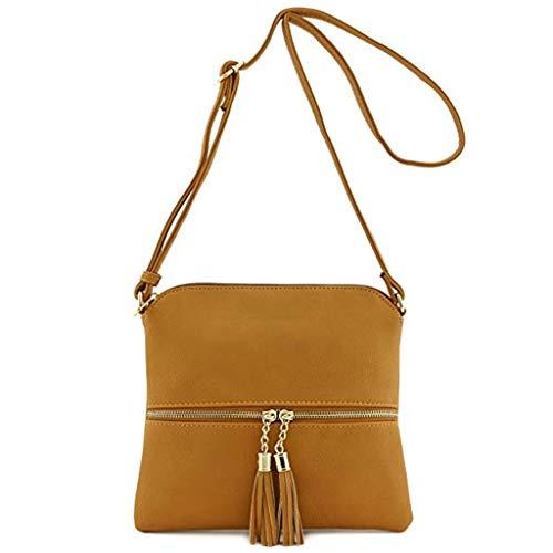 Borsa borsa Handbag per Donna Messenger Con Tasche Tote uso 19 Arancia Lavoro Spalla Shoulder A Muium Colori Quotidiano Tracolla Grande In Pelle Bag Donna Borse dq4xIdZw