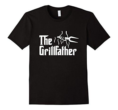 Mens The Grillfather BBQ Barbecue and Grilling Dad