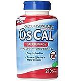Os-Cal 500 + D, Calcium 500 mg., D3 200 I.U., 210 Coated Caplets (Pack of 3 (210 ct ea))