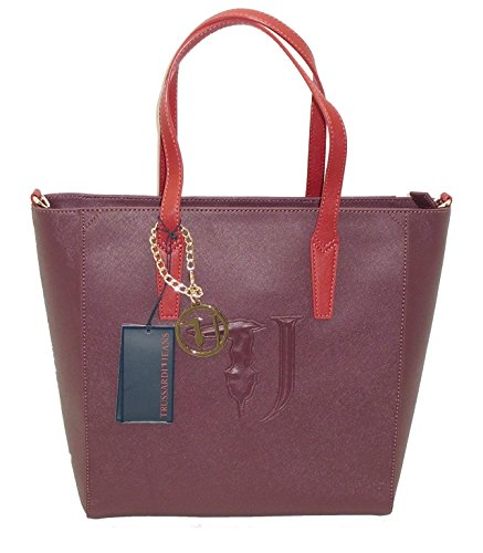 Borsa TRUSSARDI JEANS B552 handbag SHOPPING ischia BORDO
