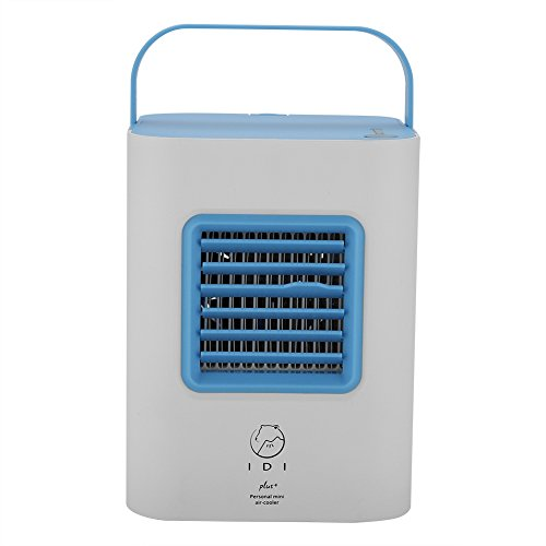 Zerodis USB Powered Mini Portable Air Conditioner Fan, Desk Table Air Cooler Cooling System Adjustable Wind Speed Indoor Humidifying Equipment for Home Office Dorm Room Travel(Blue) by Zerodis