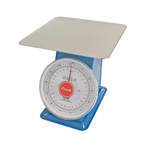 Escali Mechanical Dial Scale, 132lb x 0.5oz/60kg x 0.2g, Stainless Steel, DS13260P, Lot of 1 by Escali