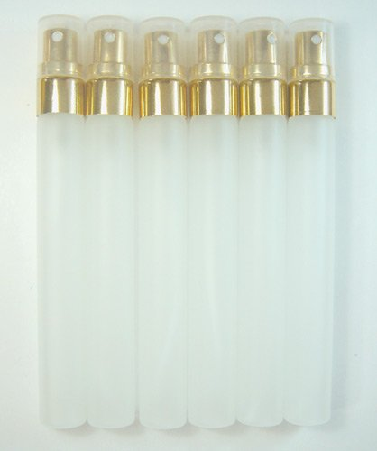 Gold Perfume Bottle - 12pcs. 10ml. Empty Perfume Glass Bottle Atomizer Spray Gold Caps.
