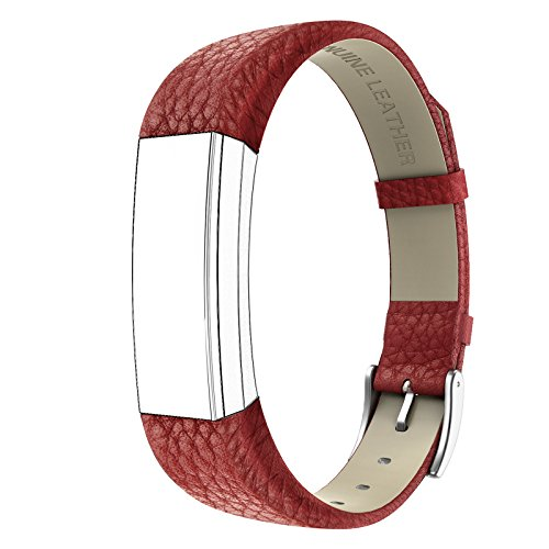 Fitbit Alta HR and Alta Bands Leather, Swees Genuine Leather Band With Buckle Replacement Wristband Small & Large for Fitbit Alta HR and Alta, - Buckle Small