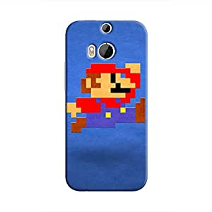 Cover It Up - Mario Pixelated Blue One M9 Plus Hard Case