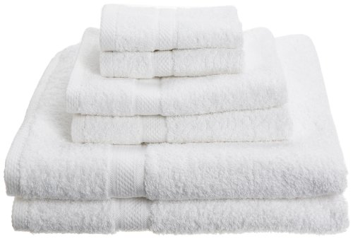 Pinzon Egyptian Cotton 725-Gram 6-Piece Towel Set, White