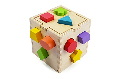 (Shape Sorting Cube with 12 Shapes)
