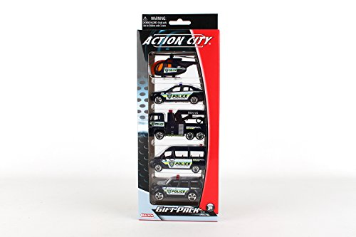 Daron Police Department Vehicle Gift Pack 5-Piece