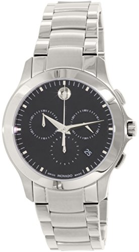 Movado Men's Masino Silver Stainless-Steel Swiss Quartz Watch (Large Image)